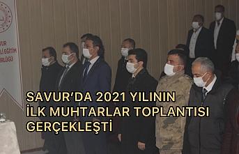 Savur' da 2021 yılının ilk muhtarlar toplantısı gerçekleşti