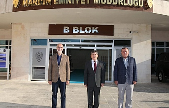 Milletvekili Dinçel ve Başkan Şahin'den emniyet müdürüne ziyaret