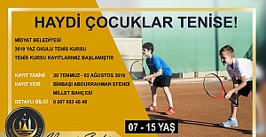 Midyat'ta Tenis Kursu Kayıtları Başladı