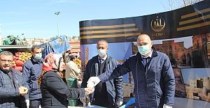 Midyat Belediyesinden Pazarda korona virüsü önlemi