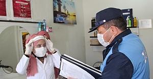 Berber ve kuaförlere maske, eldiven ve dezenfektan desteği