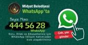 Midyat Belediyesi WhatsApp şikayet hattı kurdu