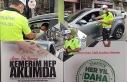Trafik Haftası dolayısıyla Midyat'ta sürücüler...