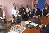 Yavuz, Ömerli Devlet Hastanesinde İncelemelerde Bulundu