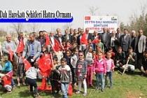 Midyat'ta Afrin şehitleri için 53 fidan dikildi