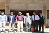 İl Milli Eğitim eski Müdürü İbrahim Şişman, Midyat Belediyesini ziyaret etti