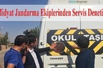 Jandarma ekiplerinden servis denetimi