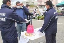 Midyat'taki pazar yerlerinde koronavirüs önlemleri