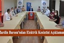 Mardin Barosu'ndan Elektrik Kesintisi Açıklaması