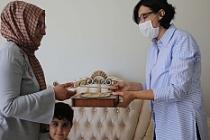 Mardin'de 100 yaş üstü anneler unutulmadı