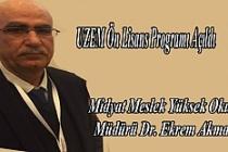 Midyat MYO'lu Bünyesinde, UZEM Ön Lisans Programı Açıldı