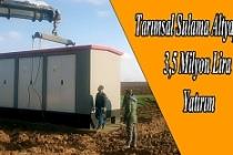Tarımsal sulama altyapısına 3,5 milyon lira yatırım
