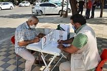Midyat'ta Türk Kızılay'a kan bağışı
