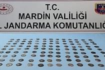 Mardin'de 117 adet gümüş sikke ele geçirildi
