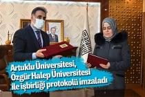 Artuklu Üniversitesi, Özgür Halep Üniversitesi ile işbirliği protokolü imzaladı