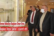 Göreme Belediye Başkanı Ömer Eren, Başkan Şahin'i ziyaret etti