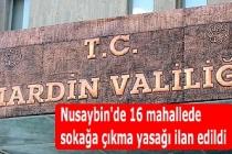 Nusaybin'de 16 mahallede sokağa çıkma yasağı ilan edildi