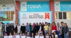Tügva Yaz Kursunu Tamamlayan Öğrencilere Sertifikaları Verildi