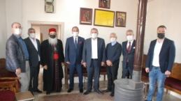 Cezayir'in Ankara Büyükelçisi Adcabi, Başkan Veysi Şahin'i ziyaret etti