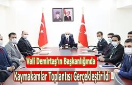 Vali Demirtaş'ın Başkanlığında Kaymakamlar...