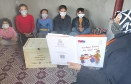 Midyat'ta dezavantajlı çocuklara oyuncak ve eğitim seti dağıtıldı