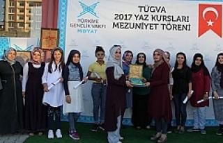 Midyat'ta Tügva Yaz Kursunu Tamamlayan Öğrencilere...