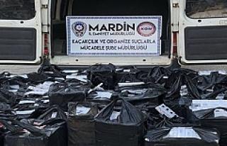 Mardin'de 2 bin 750 paket kaçak sigara ele geçirildi