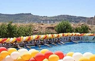 Artuklu Belediyesinden Çocuklara Yüzme Havuzu
