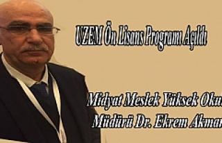 Midyat MYO'lu Bünyesinde, UZEM Ön Lisans Programı...