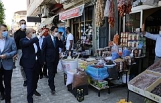 Vali Mahmut Demirtaş, Midyat'ta İncelemelerde...
