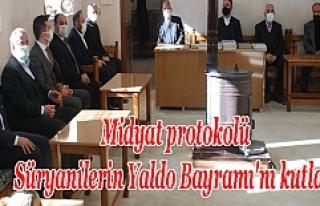 Midyat protokolü Süryanilerin Yaldo Bayramı'nı...
