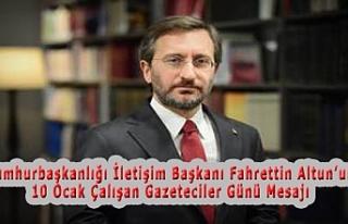 Cumhurbaşkanlığı İletişim Başkanı Fahrettin...