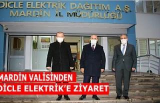 Mardin valisinden Dicle Elektrik'e ziyaret