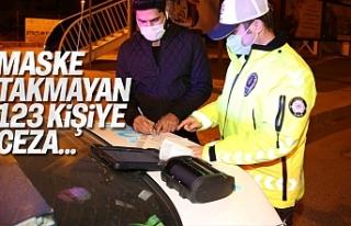 Maske Takmayan 123 kişiye 110 700 Lira ceza