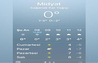 Son dakika haberler: Midyat'ta mevsimin ilk karı...
