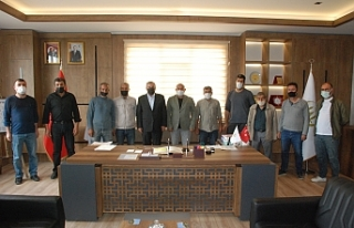 Mermerciler Kooperatifinden, Başkan Şahin'e ziyaret