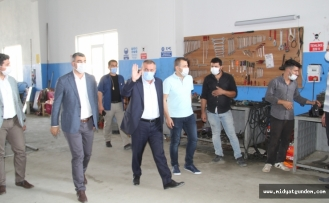 AK Parti İl Başkanı Kılıç, Yeni Kademe Hizmet Kampüsünü gezdi
