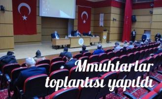 Midyat'ta muhtarlar toplantısı gerçekleşti