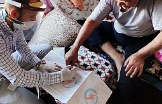 79 yaşındaki Mazıdağılı vatandaşa evinde hizmet verildi