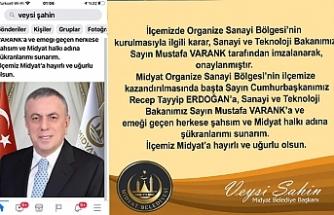 Başkan Şahin'den yılın ilk müjdesi Midyat'ta OSB kuruluyor