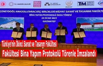 Türkiye'nin İkinci Sanat ve Tasarım Fakültesi Bina Yapım Protokolü Törenle İmzalandı