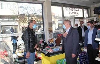Başkan Şahin'den, esnaf ziyareti