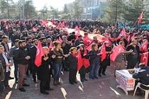 Midyat'ta Zeytin Dalı Harekâtı'na Destek Yürüyüşü Düzenlendi