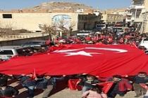 Savur'da Zeytin Dalı Harekatı'na Destek Yürüyüşü
