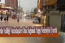 Mardin'de Yağış Uyarısı