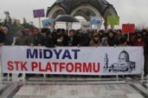 Midyat'ta tek taraflı 'Yüzyılın Anlaşması'na tepki