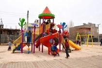 Gölcük mahallesindeki çocukların park mutluluğu
