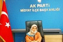AKParti Kadın Kolları Başkanı Acar'dan, Kadınlar günü mesajı,