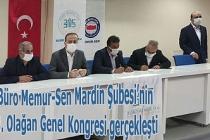 Büro Memur-Sen Mardin Şubesi'nin 3. Olağan Genel Kongresi gerçekleşti
