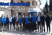 Midyat Belediyespor play- off için yola çıktı